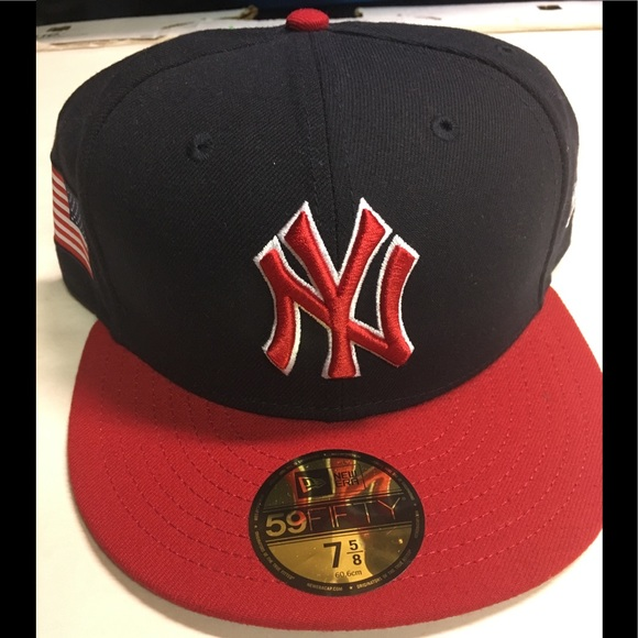 a589b37d915 NewYork Yankees new era flag fitted hat size 7 5 8